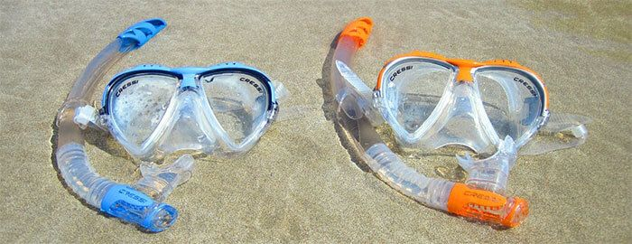 Marcas de gafas de buceo y máscaras de snorkel